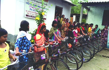 Bicycle Distribution for Girls