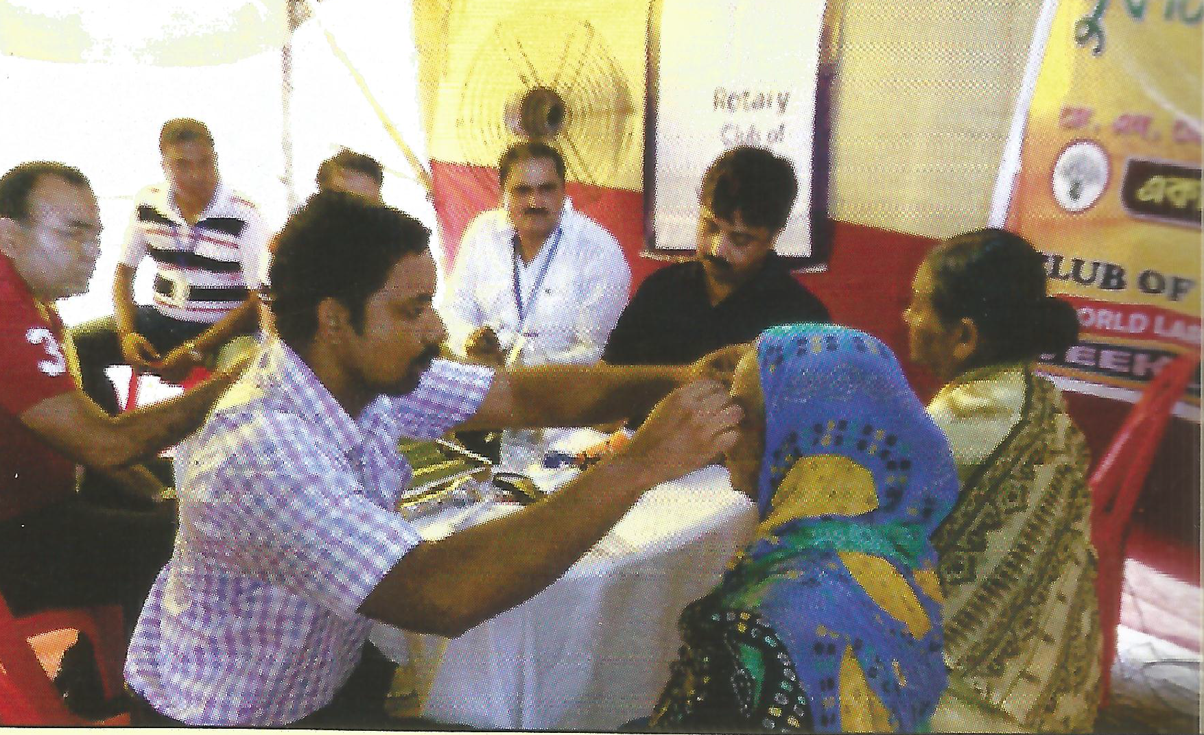 Free Eye Check up Camp under our Project Vision 20/20 with our RCC at Sukantoally, Sonarpur