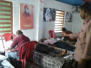 Blood Donation Camp at Parasmoni, Sunderban with our RCC